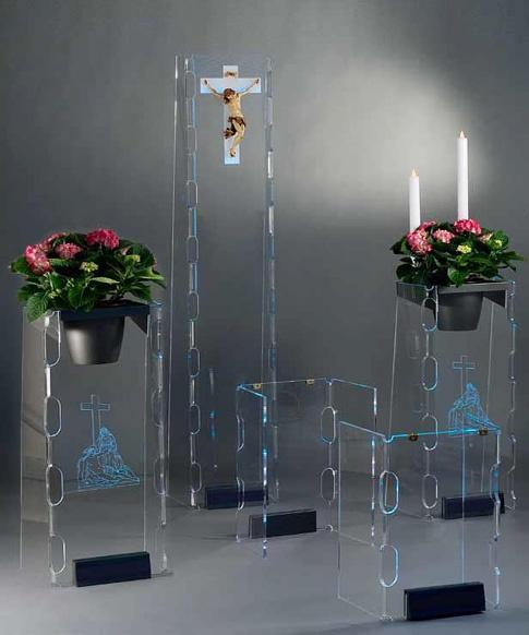 Arredo in plexiglas per camera ardente omega for Arredi cimiteriali