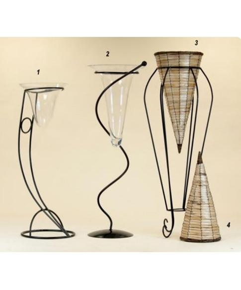 Il germoglio vasi porta fiori - Porta vasi in ferro ...