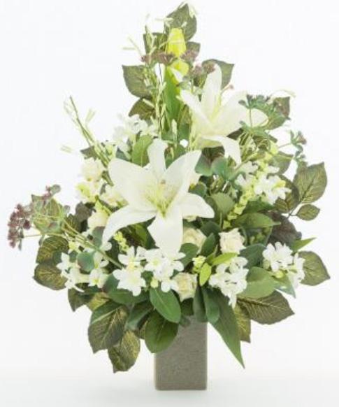 Favorito Mazzo di fiori artificiali per loculo con gigli ML005 GM91