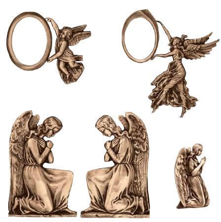 Molto Targhe in bronzo raffigurative per lapidi IE02